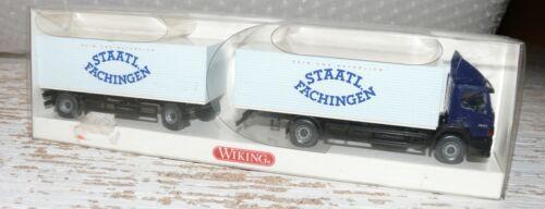 HE Wiking 561 03 43 Getränkekoffer Lastzug MB Atego Staatl.Fachingen