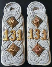 ✚7546✚ German army WW2 Wehrmacht shoulder boards Colonel 131st Infantry Regiment