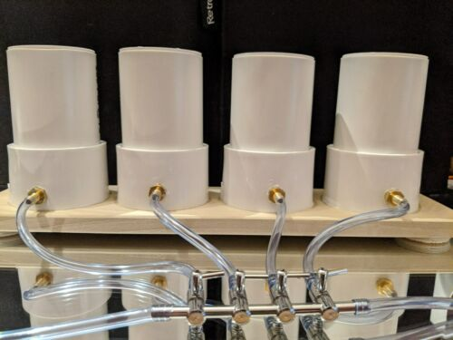 """8 Cups 2/"""" Powder Coating Fluid bed 4 Bank Set Up for Jig painting"""