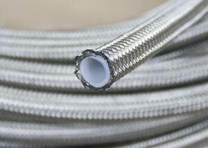10-AN10-1-2-034-20FT-12-95mm-Braided-Stainless-Steel-PTFE-Fuel-Line-Hose