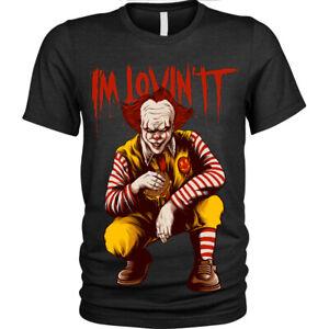 MI-e-Lovin-T-Shirt-Divertente-Spaventoso-Clown-HORROR-HALLOWEEN-unisex-uomo