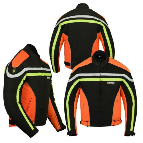 Mens Armoured Waterproof Textile Motorbike Motorcycle Short Jacket Winter Sports