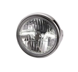Klarglas-LED-Scheinwerfer-Suzuki-GS-500-E-chrom-chromed-headlight