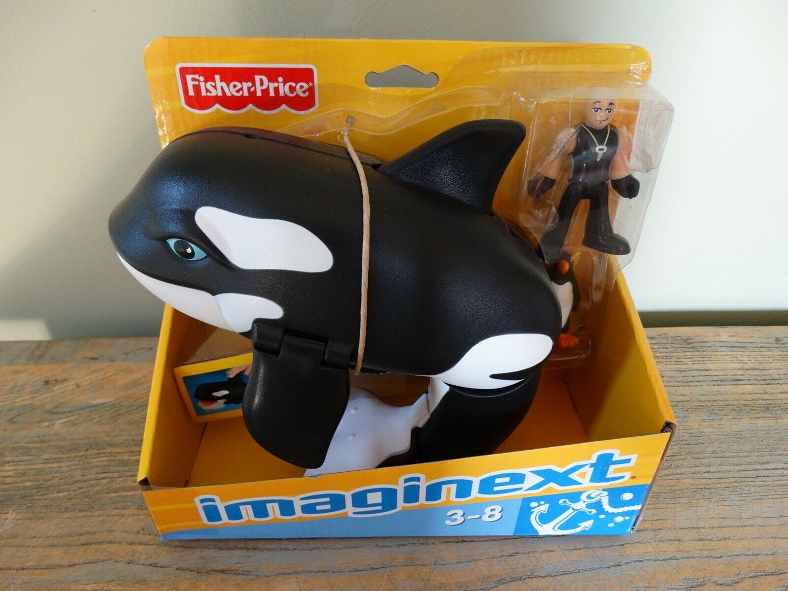 Imaginext Orca Killer Whale Opening Mouth Figure Fisher Price Penguin BNIB