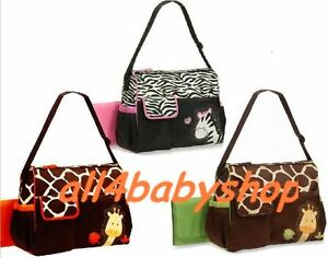CLEARANCE-3pcs-Giraffe-Zebra-Baby-Nappy-Changing-Bags-Large-Sizes-3-Designs-NEW