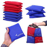 8 ALL WEATHER WATERPROOF CORNHOLE BAGS 2 COLORS RED/BLUE Resin Fill Top Quality