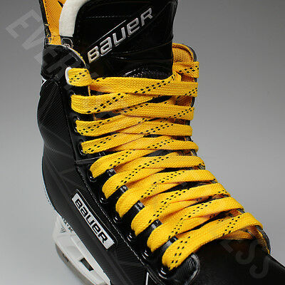 Black Red NEW Elite Pro X7 Molded Tip Wide Hockey Laces