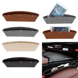 QZO-PU-Leather-Catch-Catcher-Box-Caddy-Car-Seat-Slit-Pocket-Storage-Organizer