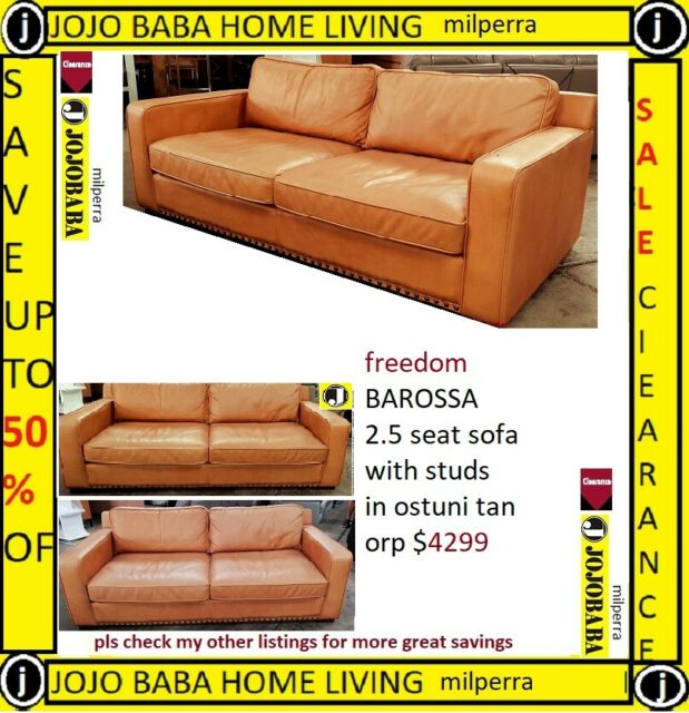 Pleasing Freedom Barossa 2 5 Seat Sofa With Studs In Ostuni Tan Orp 4299 Bralicious Painted Fabric Chair Ideas Braliciousco