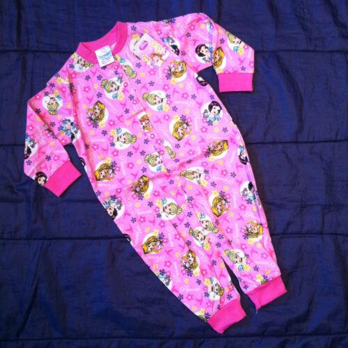 Girls Disney Princess Cotton Pink Nightwear Pyjamas PJs Cinderella kids jumpsuit