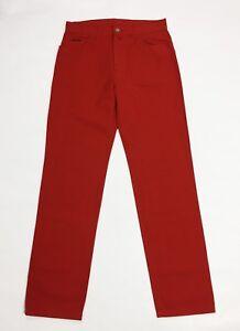 Explorer-jeans-uomo-nuovo-gamba-dritta-denim-rosso-w34-tg-48-boyfriend-T3932