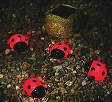 Item 3 NEW 4 Piece Ladybug Solar Garden String Light Set Red Weatherproof  Long Lasting  NEW 4 Piece Ladybug Solar Garden String Light Set Red  Weatherproof ...