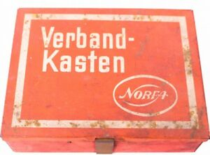 old tin can first aid kit norfa advertisement advertising tin crate