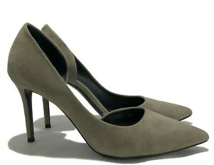 CELINE-GRAY-SUEDE-POINTED-TOE-PUMPS-37-795
