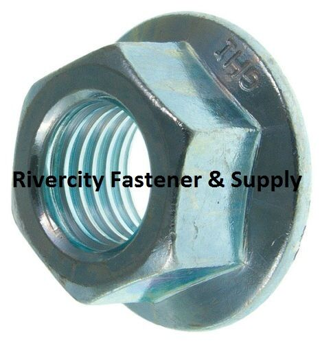(100) M10x1.5 Metric Serrated Hex Flange Nuts Class 10 DIN 6923
