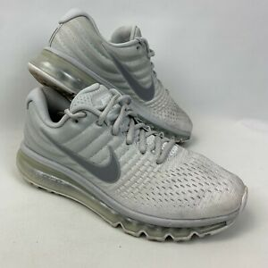 White Nike air max 2017 trainers shoes UK8 EU 42.5 used running gym 849559-009