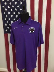 716b7ccd5 nwt Nike Purple Swoosh Dri-Fit Polo Shirt men s XL new Golf Wicking ...