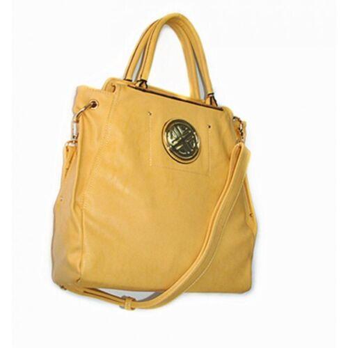 Women/'s HandBag Faux Leather Strap Drop Zipper Top Rear Zip Pocket