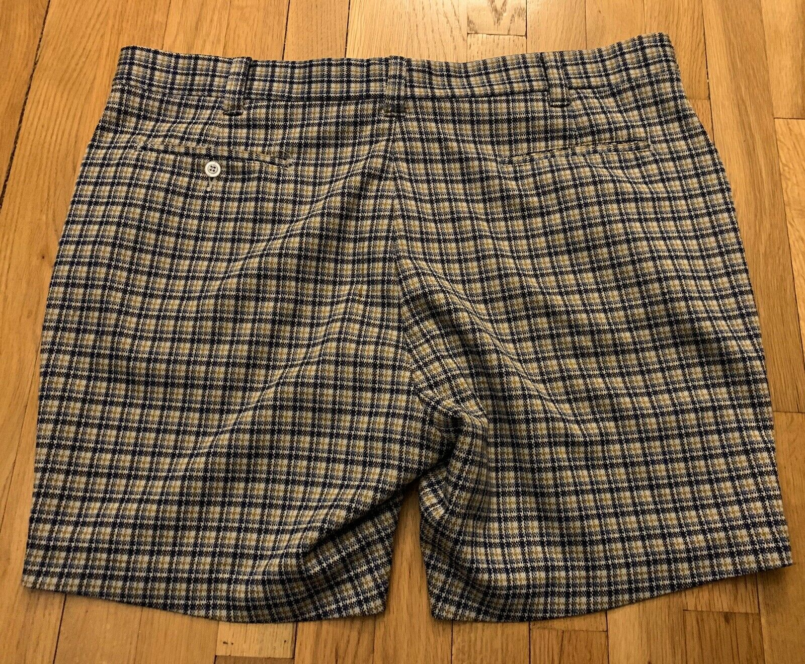 Vintage Tailored Double Knit Shorts, Size 42. - image 2