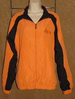 Monterey Club - Jaffa Orange & Black Golf /athletic Jacket Mens Sz L $78