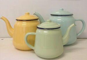 Enamel-Teapot-Kettle-12cm-14cm-16cm-Vintage-Kitchen-Camping