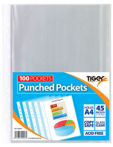 A4-Clear-Plastic-Poly-Punched-Pockets-Strong-Filing-Wallets-Sleeves