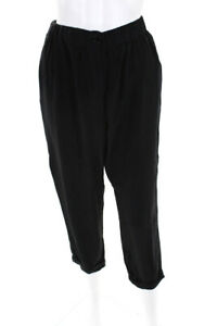 3-1-Phillip-Lim-Womens-Cropped-High-Waisted-Casual-Pants-Black-Silk-Size-6