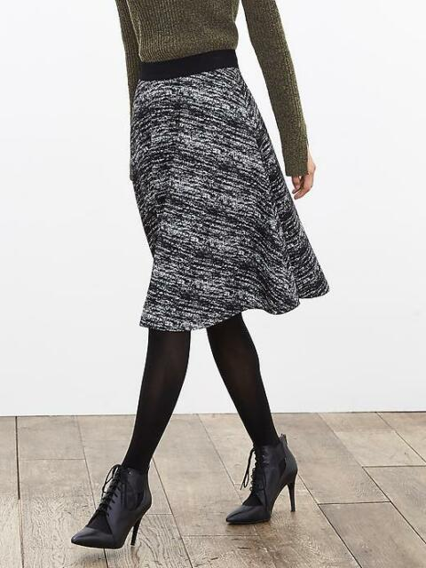 5996d1a17 Banana Republic Textured Knit Midi Skirt, Cocoon, Polyester Blend, Size  12P, NWT