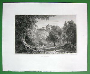 ITALY-La-Riccia-or-Laricia-1820-Antique-Print-by-Miss-BATTY