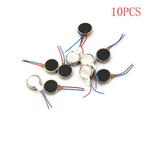 10x DC 3V 70mA 12000 RPM For Phone Coin Flat Vibrating Vibration Motor 1030  X
