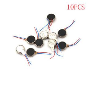 10x DC 3V 70mA 12000 RPM For Phone Coin Flat Vibrating Vibration Motor 1030 EP