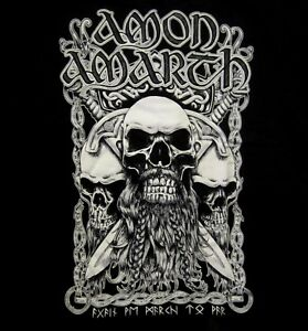 AMON-AMARTH-cd-lgo-BEARDED-SKULL-Official-Black-SHIRT-MED-new