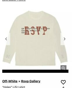RSVP-Gallery-x-OFF-WHITE-034-Holes-034-L-S-Tee-Small-White-100-Authentic-VERY-RARE