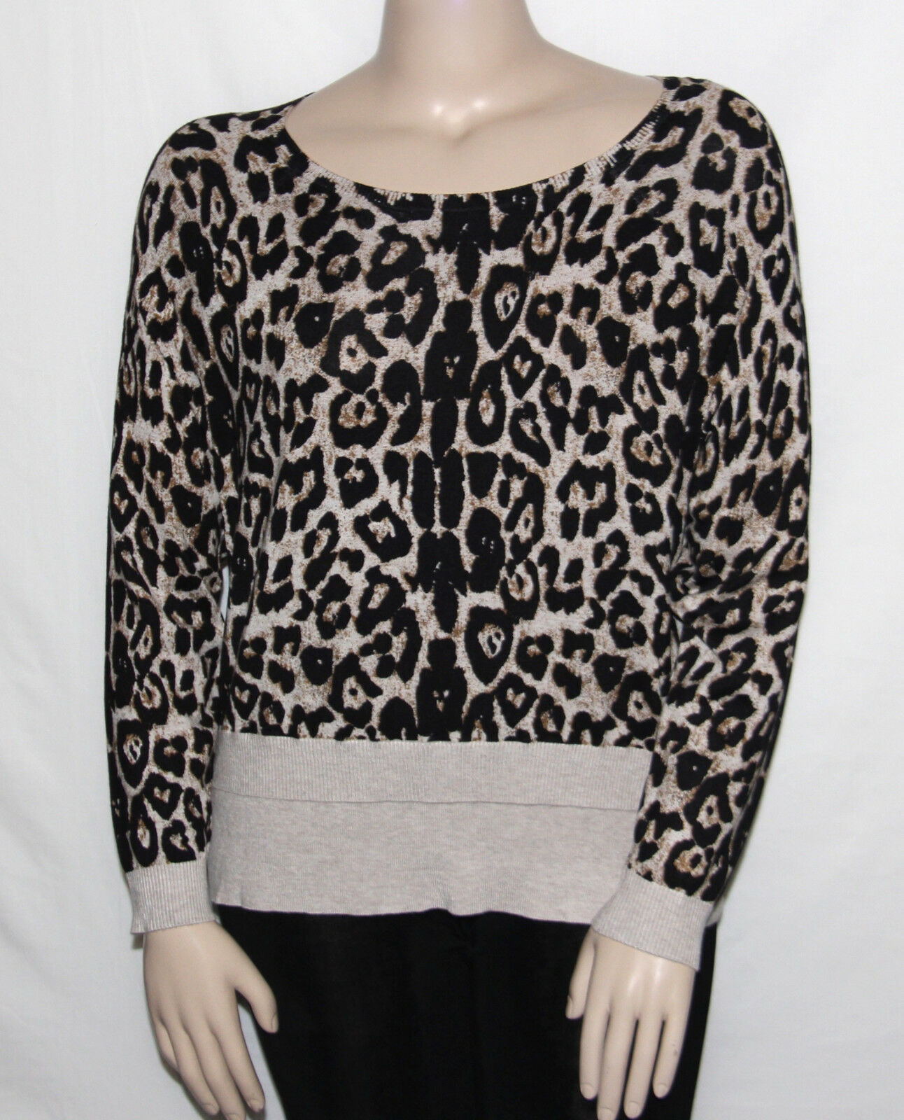 INC International Concepts Plus Size 1X Animal Print Sweater Long Raglan sleeve