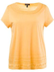Ulla-Popken-T-Shirt-Top-Plus-Groesse-20-22-24-26-32-34-36-38-Mango-bestickt