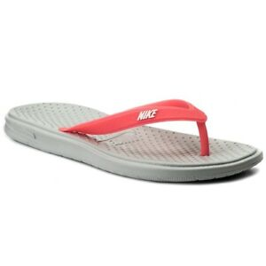 best service 70dce 2f1b8 Image is loading Nike-Solay-Thong-Big-Kids-Flip-Flop-Grey-