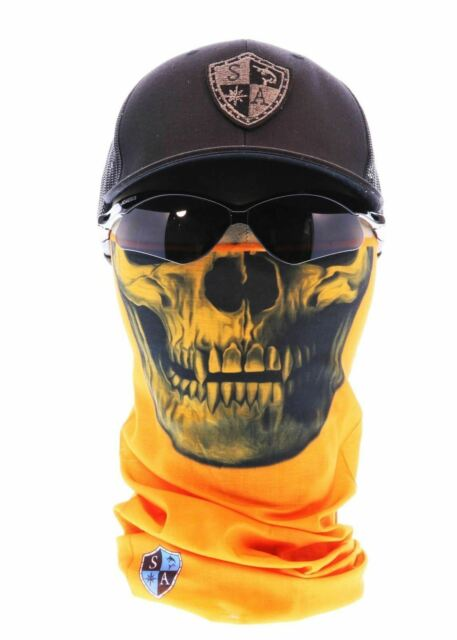 Salt Armour SA Orange /& Green Digi Face Shield Mask Neck Gaiter Tubular Bandana