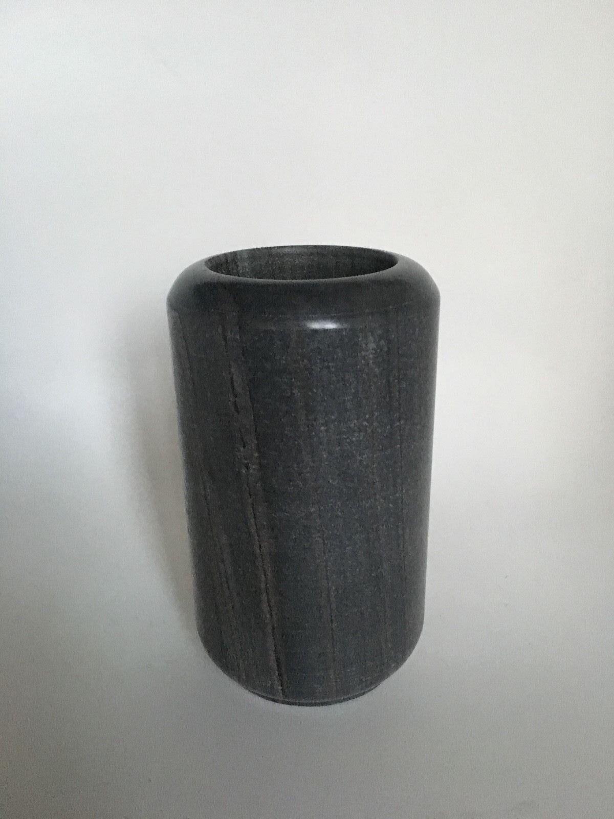 Balder Vase Marmor grau   schwarz 15 cm NEU