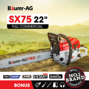 【EXTRA10%OFF】BAUMR-AG Commercial Petrol Chainsaw E-Start 22 Chain Saw Tree