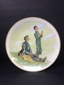 Limited-Edition-Norman-Rockwell-Collector-Plate-1976-Spring-039-Soaring-Spirits-039