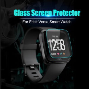 2-Pack-Tempered-Glass-Screen-Protector-Film-Guard-For-Fitbit-Versa-Watch