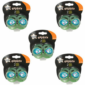 5-x-TOMMEE-TIPPEE-Explora-6-18-month-Baby-Boy-BPA-Free-Latex-Cherry-Teat-Soother