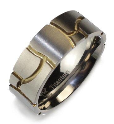R02 Herren Ring TITAN B= 8mm MIT SCHMUCKBEUTEL Ringe Männer Schmuck Men´s Rings