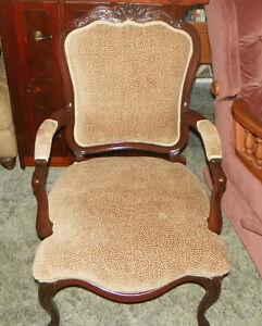 Mahogany-Carved-Armchair-Parlor-Chair-animal-print-velvet-AC18