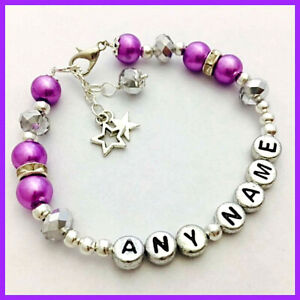 Girls-Ladies-personalised-sparkly-any-name-bracelet-gift-party-bag-christmas