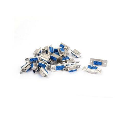 10Pcs D-SUB 9 Pin DB9 Female Solder Type Socket Connector UsefulSN