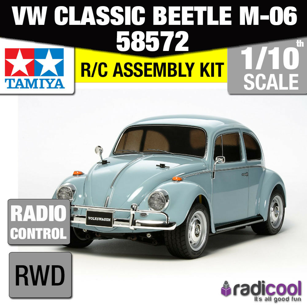 58572 TAMIYA VW CLASSIC BEETLE M-06 1/10th R/C KIT RC auto 1/10 NUOVO