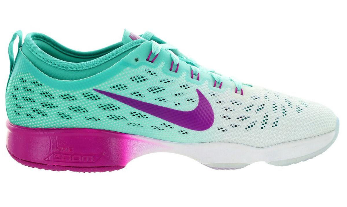 Nike donne zoom adatta agilità scarpa dimensioni noi m lt retrò / fchs fish /