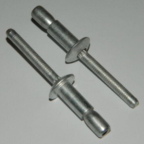 100 Hochfeste Blindnieten 4,8x10,5 Stahl//Stahl  M-Lock