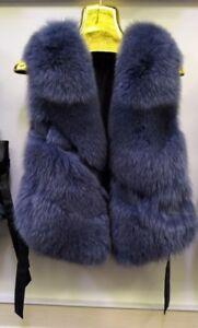 S Women's Sz Purple Vest Brand Fur New Fox Aq5qwCg